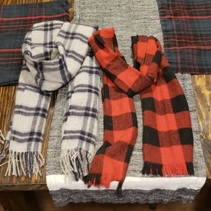 Two-Pack J.Crew Plaid Scarves
